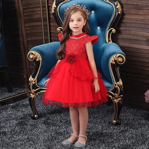 Golden shield New children's dress princess Lovely birthday party girl evening dress Autumn and winter flower girls' dress