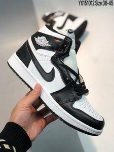 Nike Air Jordan 1 shoes calidad Nuevas fuerzas clásicas Clásico Todo Alto y bajo uno Blanco negro hombres mujeres Deportes Zapatillas de deporte Forzando zapatillas de skate