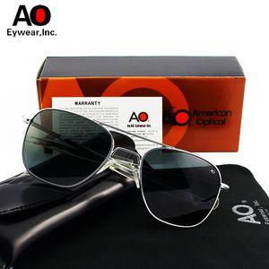 AO aviation Lunettes de soleil pour hommes femmes 2018 avec de boîte originale verre American Optical Sun conduite de masculino