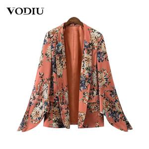 Vodiu Ladies Blazers Women Blazers And Jackets Print Women Ladies Tops Sleeve Long Split Outwear Blazer Suit Jacket Female