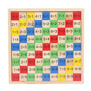 Acessório Kids Math Jogando mão-olho Coordenação Madeira Brain Power Desenvolver Multiplicação presente mesa multi Use brinquedo educativo