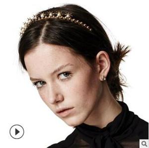 40pcs / lot DIY Multi einfache goldene Legierung Set Auger Perlenstirnbänder Stern Drill Stirnbänder Haar Styling Werkzeuge Zubehör HA1094