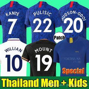 Tailandia 19 20 camiseta de fútbol CHELSEA PULISIC ABRAHAM MOUNT  ODOI WILLAN camiseta de fútbol 2019 2020 GIROUD Camiseta de football kits shirt HOMBRES MUJERES NIÑOS SETS TOPS