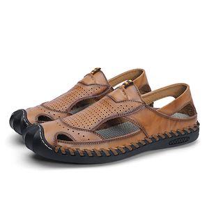 Сандали ERKEK Cuero sandalias да спортивная мода masculina кожа deportivas HOMBRE sandalsslippers Sandale обувь на открытом воздухе Ьотте