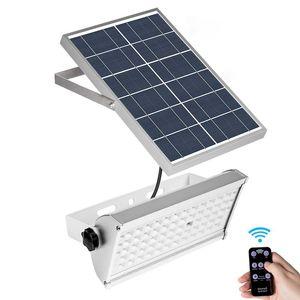 Sensor de radar de microondas Luz solar Súper brillante 1500LM 12W Foco Lámpara de energía solar 65LED Luz de jardín de calle