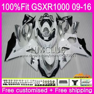 K9 Para SUZUKI GSX-R1000 GSXR 1000 09 10 11 12 13 15 16 Blanco brillante 13HM.14 GSXR1000 GSXR1000 2009 2010 2011 2012 2014 2015 2016