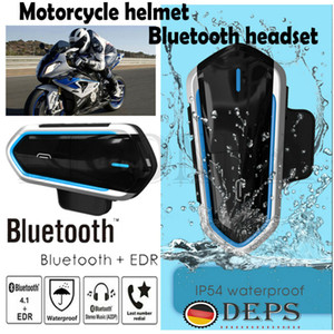 Bluetooth Motorrad-Motorrad-Sturzhelm-Intercom-Kopfhörer-Kopfhörer FM MP3 GPS