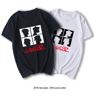 RAEEK summer brand music band gorillaz t-shirt cotton tops tees men short sleeve boy casual homme t shirt fashion Free