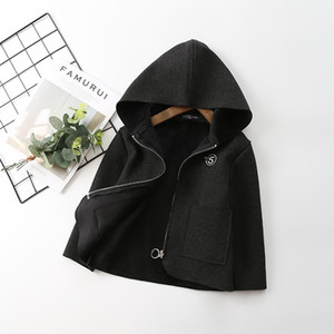 New children jacket 2020 spring autumn boys girls hooded solid color long sleeve coat Infants 3-7 year tops kids clothes