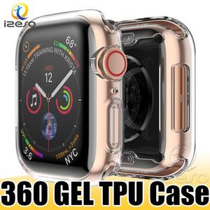 Iwatch 에 대 한 럭셔리 클리어 TPU 시계 케이스 애플 시계 시리즈 5 4 3 2 젤 소프트 전면 화면 전체 커버 시계 커버