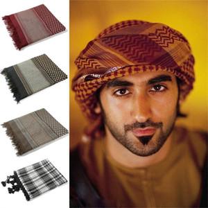 Saudi-Arabien Islamische Caps Männer Hijabs Platz 135 * 135CM arabischen Turban Muslim Prayer Hats 7Color Baumwollschal für Mann Arabisch Kleidung