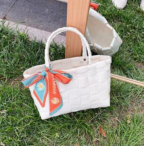 Designer Luxury Handbags Purses Women Shipping Bags Large Capacity Mom Weaving Shoulders Bag with Silk Scarves