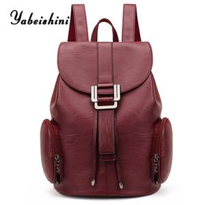 High quality Leather Backpack for women Shoulder bag sac a dos Bag school for teenage girls Mochila Feminina travel backpack