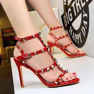 Womens Slingbacks Designer Gladiator Sandals Women Rivet Shoes Black Red Nude White Italian Brand Sexy Extreme High Heels Pumps 34-39