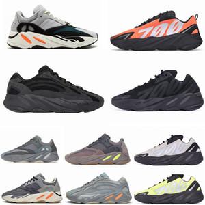 700 V2 reflectante de color naranja Runner Fósforo Bone Kanye para hombre de los zapatos corrientes Carbono Azul inercia estática Geode utilidad negro deportes de las mujeres zapatillas de deporte