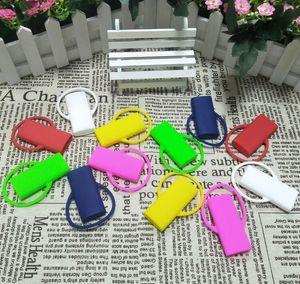 Новые красочные зажигалки Поводок защиты силиконовый чехол Шкатулка Клип KeyChain Корпус Shell кожи включительно легче Обложка инструмент