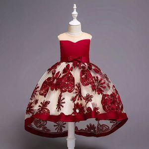 Kinder brautkleider spitze blumenstickerei mädchen kleider kinder designer kleidung mädchen abendkleider mädchen party kleid kinder kleid a4377