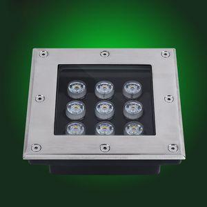 LED Untergrundbeleuchtung 3W 4W 5W 6W 9W 12W 16W 24W 36W quadratische Bodenleuchten DC12V oder 85-265VAC IP67 Buried Floor Landscape Lamp