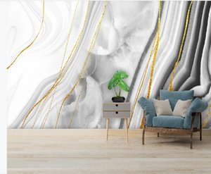 3d murals wallpaper for living room Modern light luxury abstract crystal marble wallpapers pattern background wall