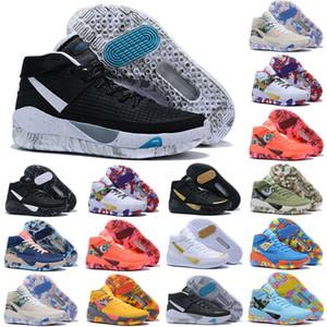 Дешевые Kevin Durant KD 13 XIII Kevin Basketball Shoes 13s для мужчин черный синий камуфляж подошвы разводят прибытие кроссовки Кроссовки кроссовки