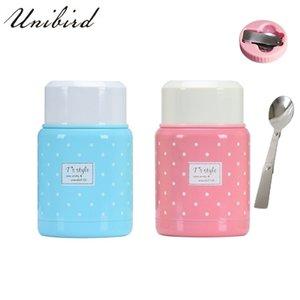 Unibird Mini Food Thermos Tazza con Cucchiaio pieghevole Cucchiaio stufato Bento Contenitore per alimenti riscaldato isolato Lunch Box per bambini C18112301