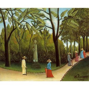 Animal painting Luxembourg Garden Henri Rousseau canvas art Hand painted office room decor Large size