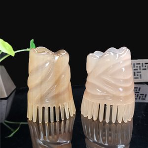 الطبيعية الأبيض بافالو القرن مشط تدليك النمط الصيني الأصل للبيئة اسع الأسنان الاستاتيكيه مشط مناسب للشعر قصير طويل مجعد الشعر