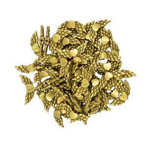 50 Stück antike Bronzeengels-Flügel-Herz-Spacer Perlen Schmuck DIY Makings