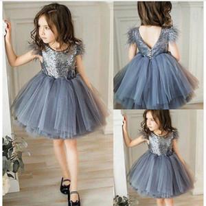 Ins sequin girls dresses lace baby princess dress party tutu dress Summer kids dresses baby girl dress girls clothes B112