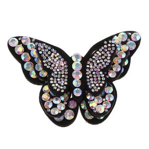 Handmade Cristal Rhinestones Sew em apliques borboleta Motivo Patches para Garment saco sapatas Hat Embelezamento