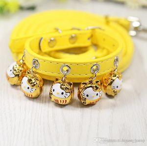 Salutations chinois Pet Supplies Richesse Chance Chat Chien Rose Colliers Forme animal Cloche Laisses Mignon Hauling Câble