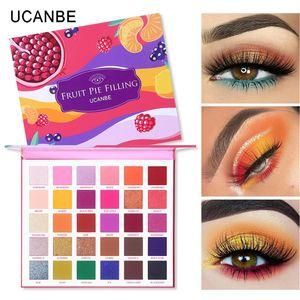 UCANBE 30 الألوان الفاكهة فطيرة تعبئة لوحة ظلال العيون ماكياج كيت نابضة بالحياة مشرق بريق لامع لامع ظلال ظلال صبغات