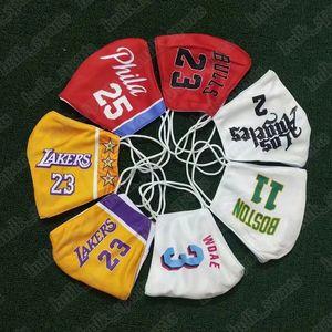 Basketball máscara de algodão máscara descartável pode ser colocado na baloncesto substituível proteção ambiental meio Maschera da cesta