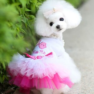 2020 Hot Luxury Dog Clothes High Quality Pet Dogs Veil Dress Fashion Spring Summer Lovely Style Cotton XS S M L XL XXL