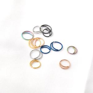 2019 New Fashion Moon Nose Ring Hoop Setto anello Naso Piercing Jewelry Ear Bone Nail piccolo cerchio