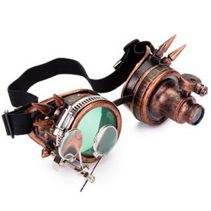 FLORATA Rivet очки Мужчины Женщины стимпанк Урожай Круглый ВС очки готические очки Vintage Retro Punk Sunglass Y200619