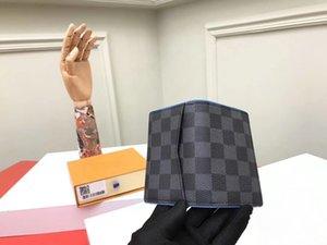 Gli uomini in vera pelle corto Borse di credito Clemence titolare della carta delle donne / uomini Grafite portafogli porte carte G64 con la scatola di polvere Borse