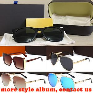mens de la mujer retro gafas de sol de gran tamaño ronda los hombres de la moda deportiva piloto cuadrada lente polarizada vendimia ciclismo gafas de sol con la caja