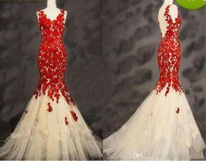 2019 New V-neck Appliques Beaded Prom Vestido Longo Fiesta Fashion Dress Elegant Tulle Long Mermaid Evening Dresses 416