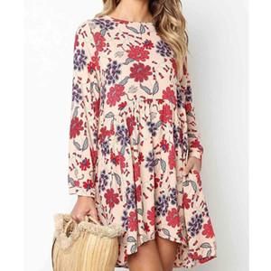 Oscilación ocasional de las mujeres Vestido de tirantes sin mangas de la impresión floral del vestido Sexy Beach Vestido flojo holgado de los vestidos de verano de la playa Mini vestido corto