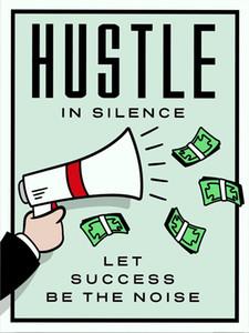 "Alec Monopoly ""Hustle In Silence"" Home Decor pintado à mão HD Imprimir pintura em Wall Art Canvas Canvas pintura a óleo cultura de escritório arte 200516"