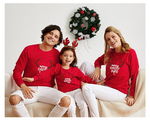 2019 suéter ropa de invierno Familia Ropa sudaderas con capucha calientes preciosa cálidos juego hija de la madre ropa