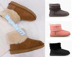 Qualitäts-neuer kuscheliges Schaf Stiefel Frauen Australien Art Pelz Schnee Stiefel CLASSIC FLUFF BOOT Winter-echtes Leder-Wolle-Schnee-Aufladungen Größe 35-42