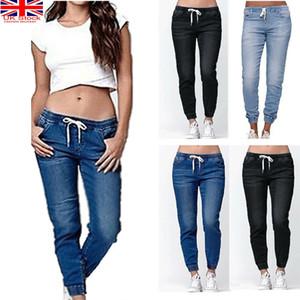 جديد غسلها الجينز المرأة عالية الخصر نحيل ممزق الدينيم السراويل سليم سروال رصاص أزياء جينز زائد الحجم S-5XL