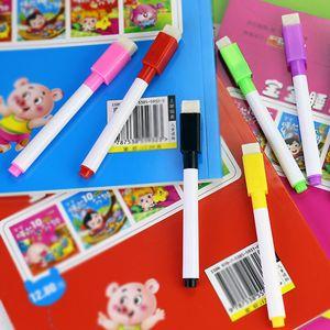 Tablero blanco magnético Pizarra Pizarra Pen marcador de borrado en seco marcadores imán pluma con el borrador de la escuela para oficina de 4 colores de tinta DBC DH2555