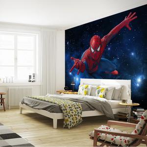 Custom Super hero Wall Mural Galaxy Spider Photo Wallpaper Silk Wallpaper Large wall art Children's room decor Ceiling Boys Bedroom