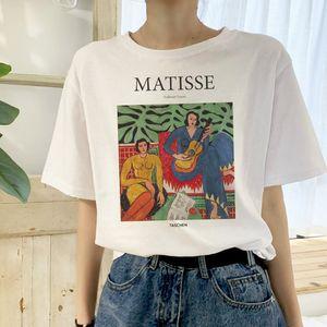 Matisse été grande taille casual femme manches courtes art de bande dessinée de la mode féminine en tête Harajuku nouvelle lettre T-shirt B2WC261