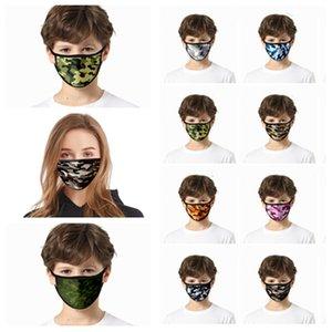 cara máscara de polvo impresa máscara de camuflaje Europa y América 3D Máscaras Máscaras de limpieza de diseño T2I5937