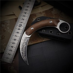 damascus knife folding pocket fixed blade knives hunting knife survival EDC karambits utility claw outdoor Tactical Combat Camping Fishing
