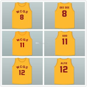 # 8 Derek 'Dee Dee' Parker # 11 Milton 'Goo' Berry # 12 Alfred 'Alfie' Parker Westlake Charlotte Grammar School Basketball Jersey Nome do costume